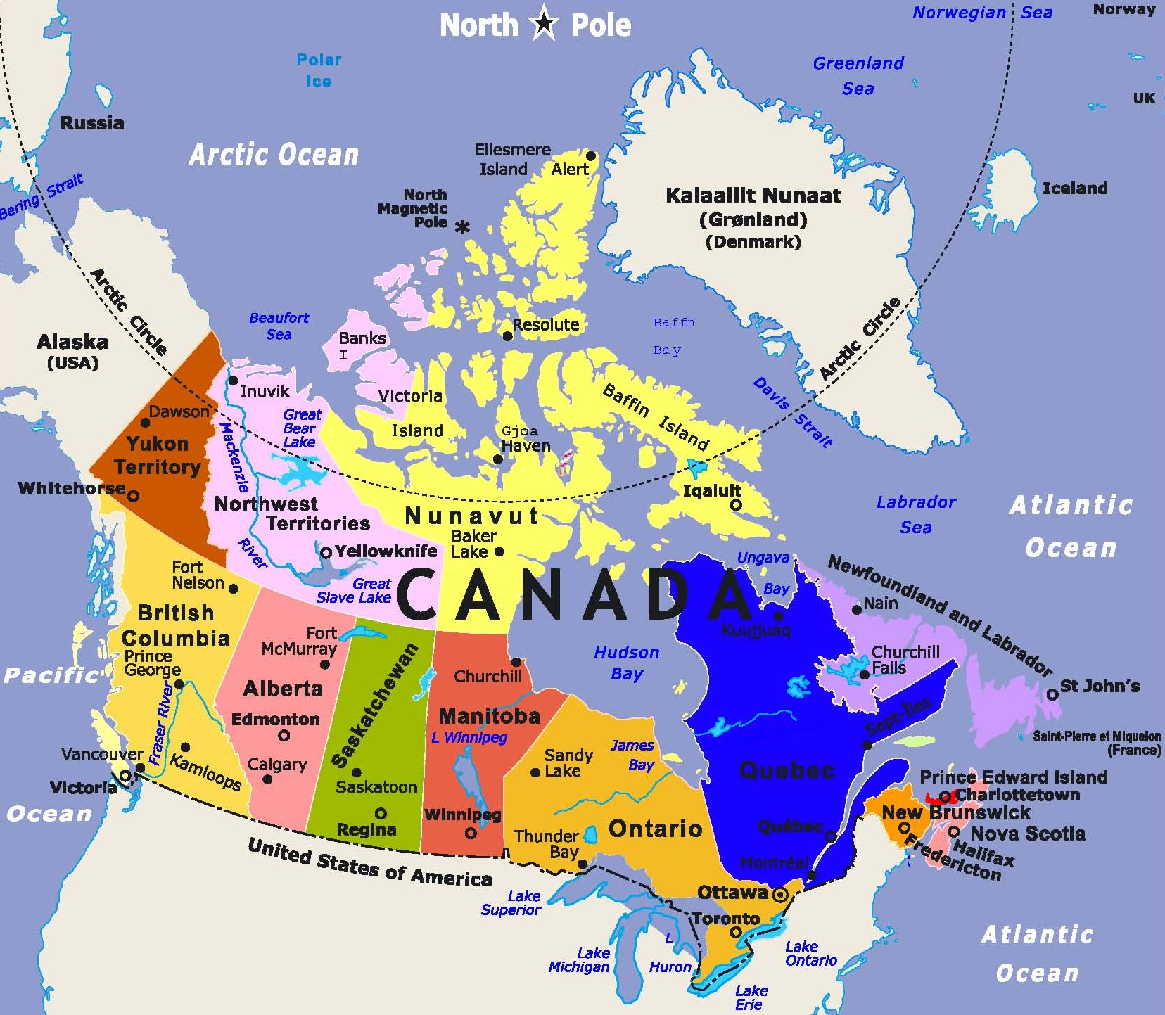 Image result for canadian map