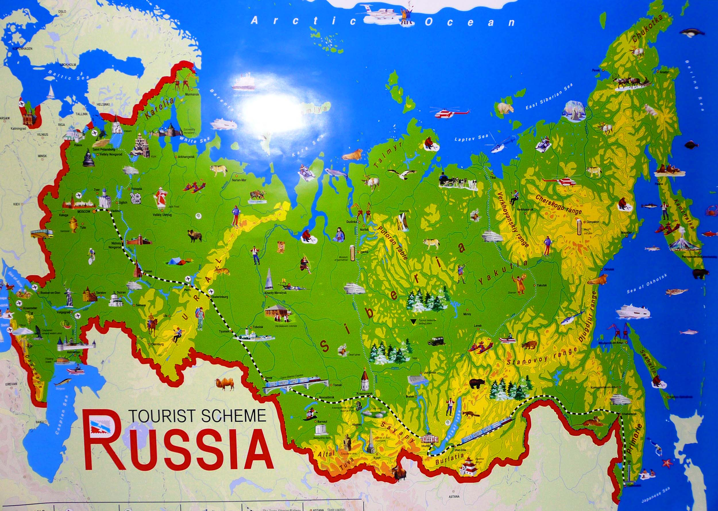 Largest Most Detailed Map And Flag Of Russia Travel