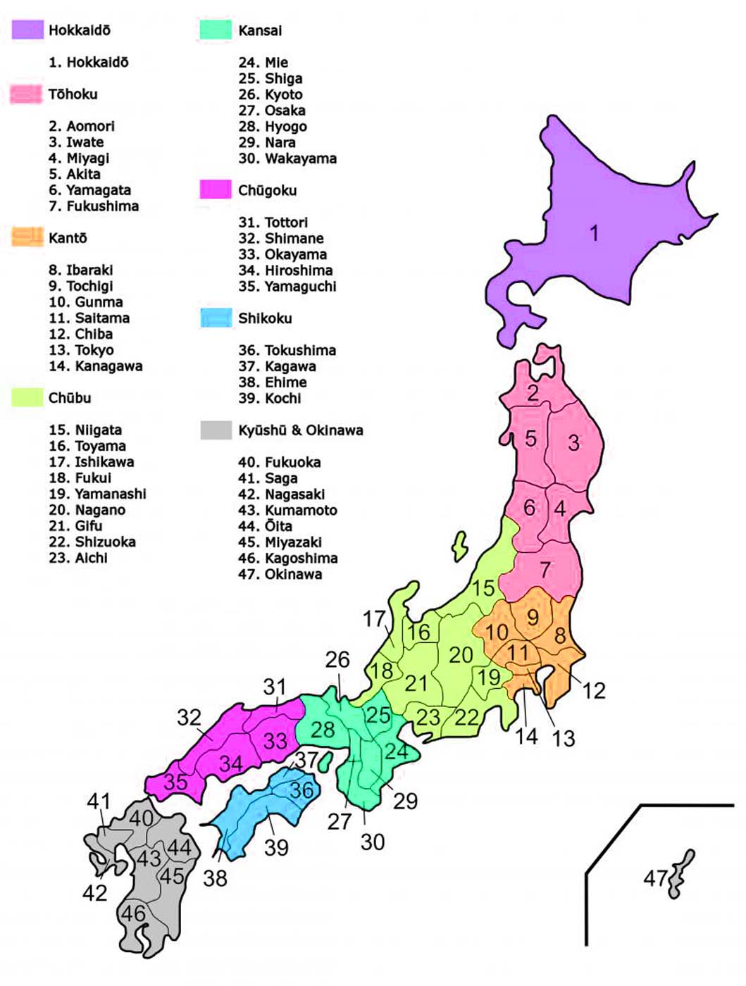 Map Of Japan Regions And Cities Travel Around The World