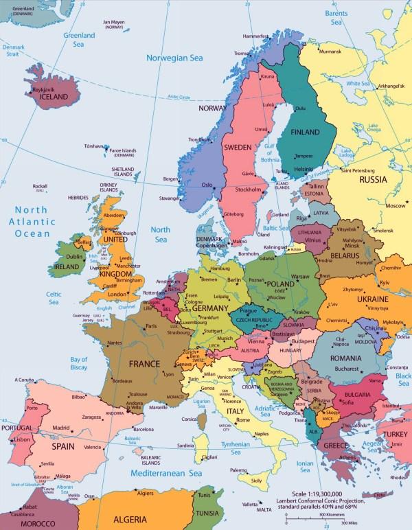 Atlas Europe Map