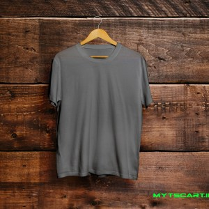 100% Cotton Charcoal grey plain t shirt @299 Only