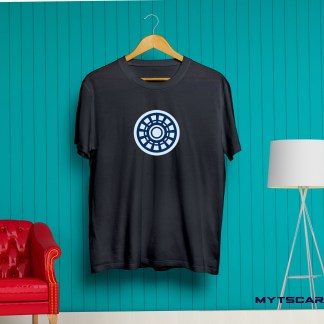 Iron men arc reactor black t shirt