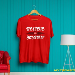 Believe In Yourself navy blue T shirt