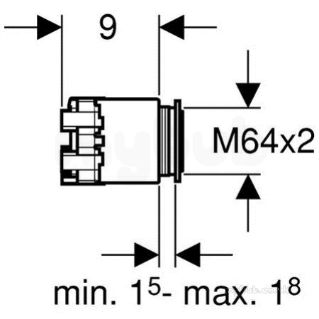 Dual Flush Pneumatic Button 115999211 : Geberit