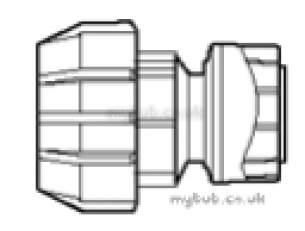 28mm X 32mm Mdpe Polyplumb Adaptor 5 : Polypipe