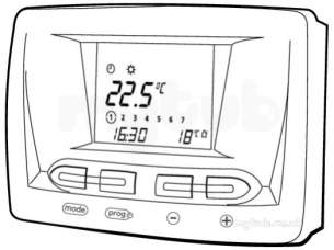 Glow-worm 20035404 White Climapro1 Programmable Room