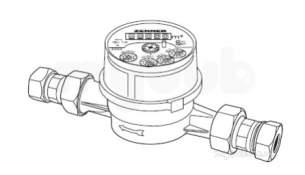 Rwc 22mm Etk Class A Cold Water Meter : Rwc