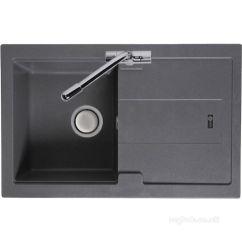 Compact Kitchen Sink Aide Mixers Stone Grey Bali Reversible With Drainer And Carron Trade Sinks Single Bowl