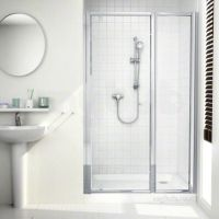 Mira 108403 Silver Flight Ace 400mm Framed Inline Shower