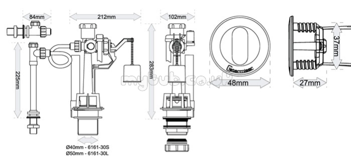 Easyflush No Touch Flush Wc Cistern Valve Ef Wave