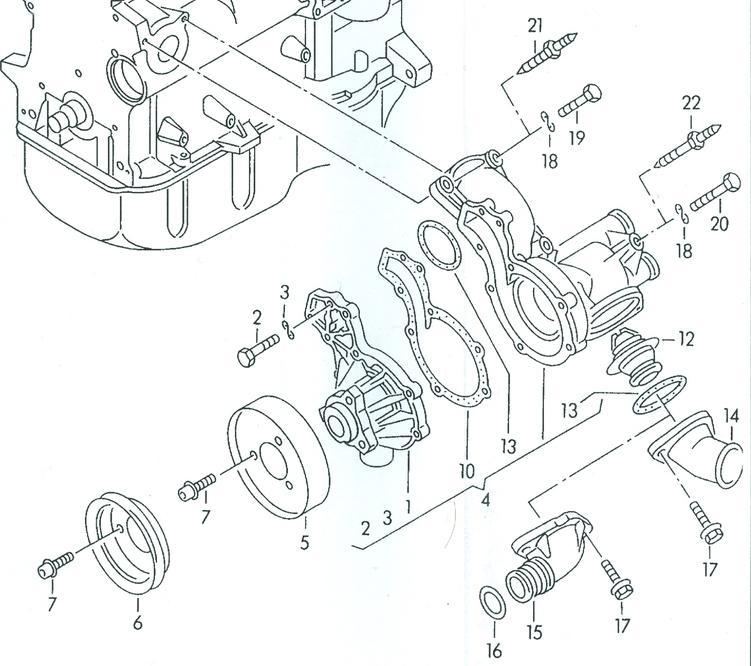 Water pump replacement for VW Passat TDI or VW Jetta TDI