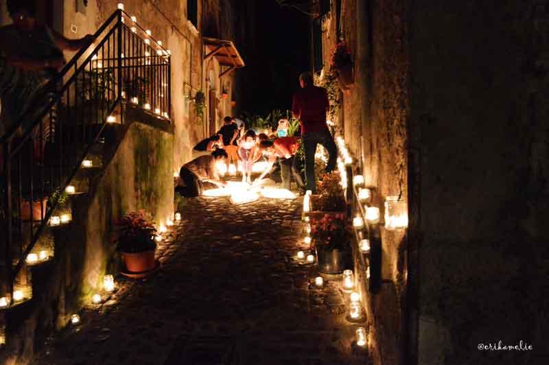 Accensione candele Vallerano Tuscia