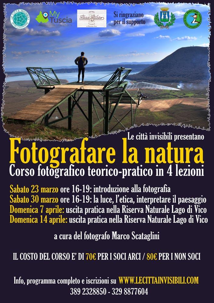 Fotografare la natura Tuscia corso