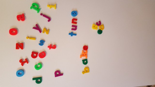 long vowel spelling with magnet letters