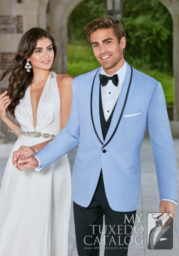Powder Blue Valencia Tuxedo  Tuxedos  Suits