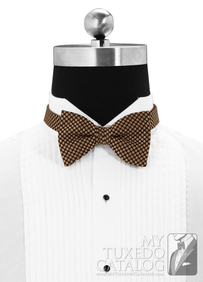 Bronze Vertical Dot Bow Tie  Ties  MyTuxedoCatalogcom