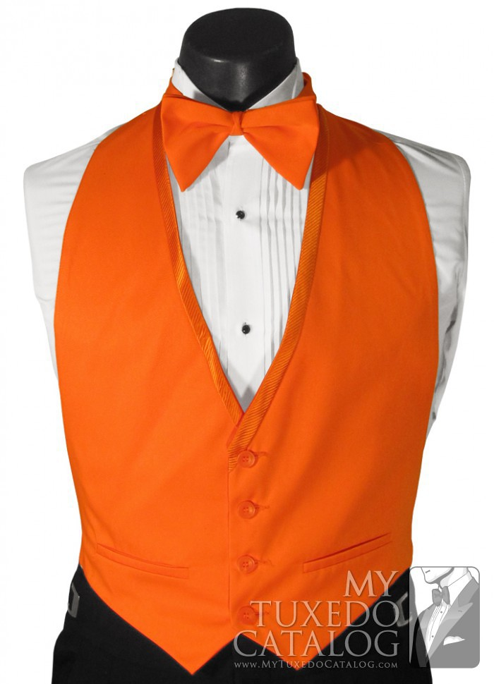 Orange Vest  Vests  MyTuxedoCatalogcom