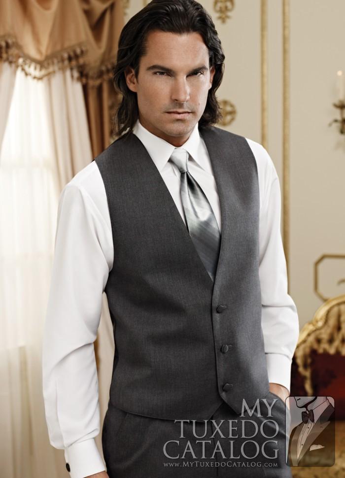 Steel Grey Suit Vest  Vests  MyTuxedoCatalogcom