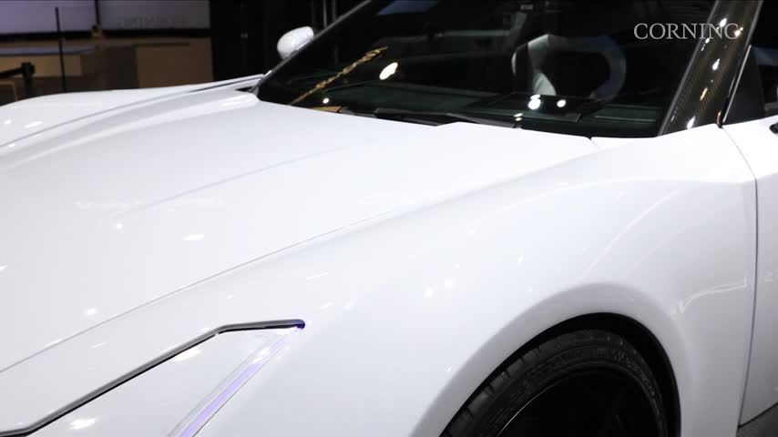 Corning Inc- Showcases Gorilla Glass in Sports Car at CES_58328762