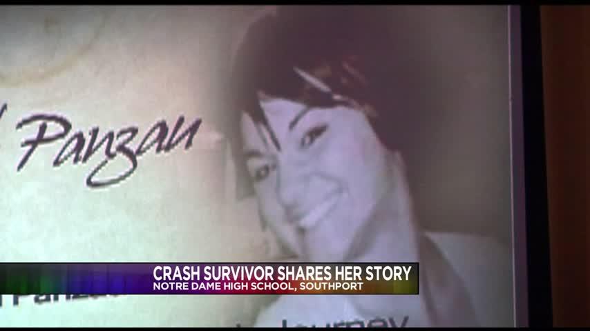 Crash survivor encourages students to make smart choices_73086583