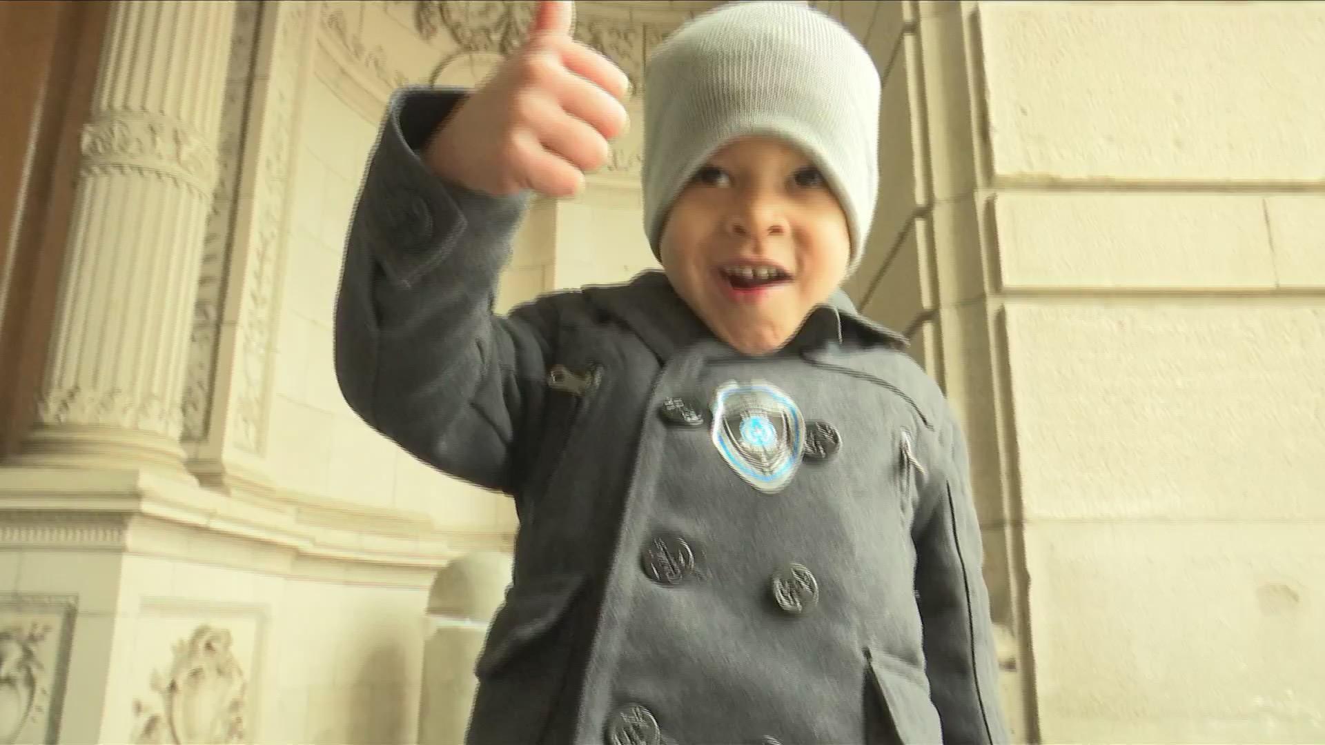 Local boy demonstrates spirit of Thanksgiving