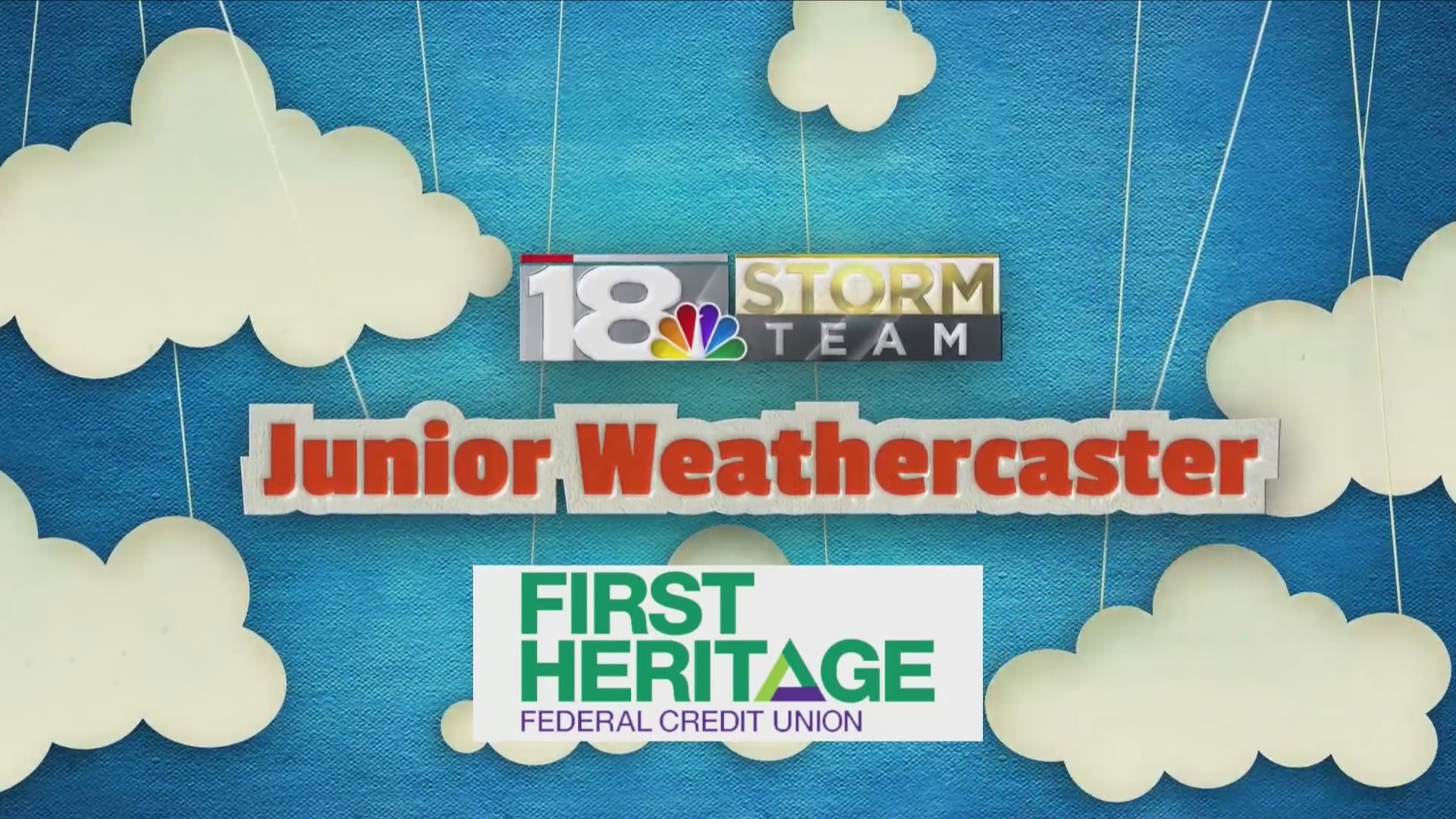 February's Junior Weathercaster: Donovan