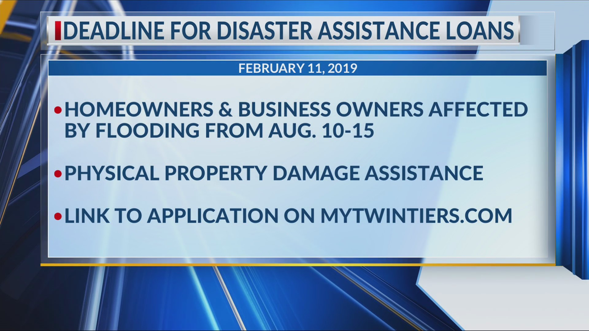Last chance for PA residents affected by summer flooding to apply for disaster assistance