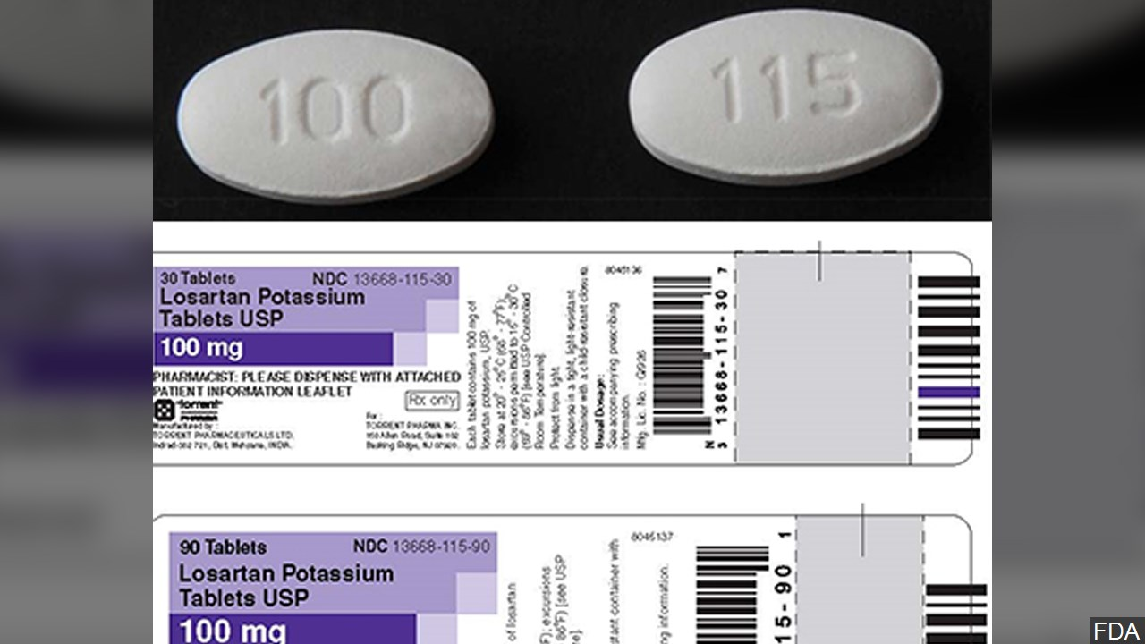 FDA: Blood pressure medication recall expanded again for