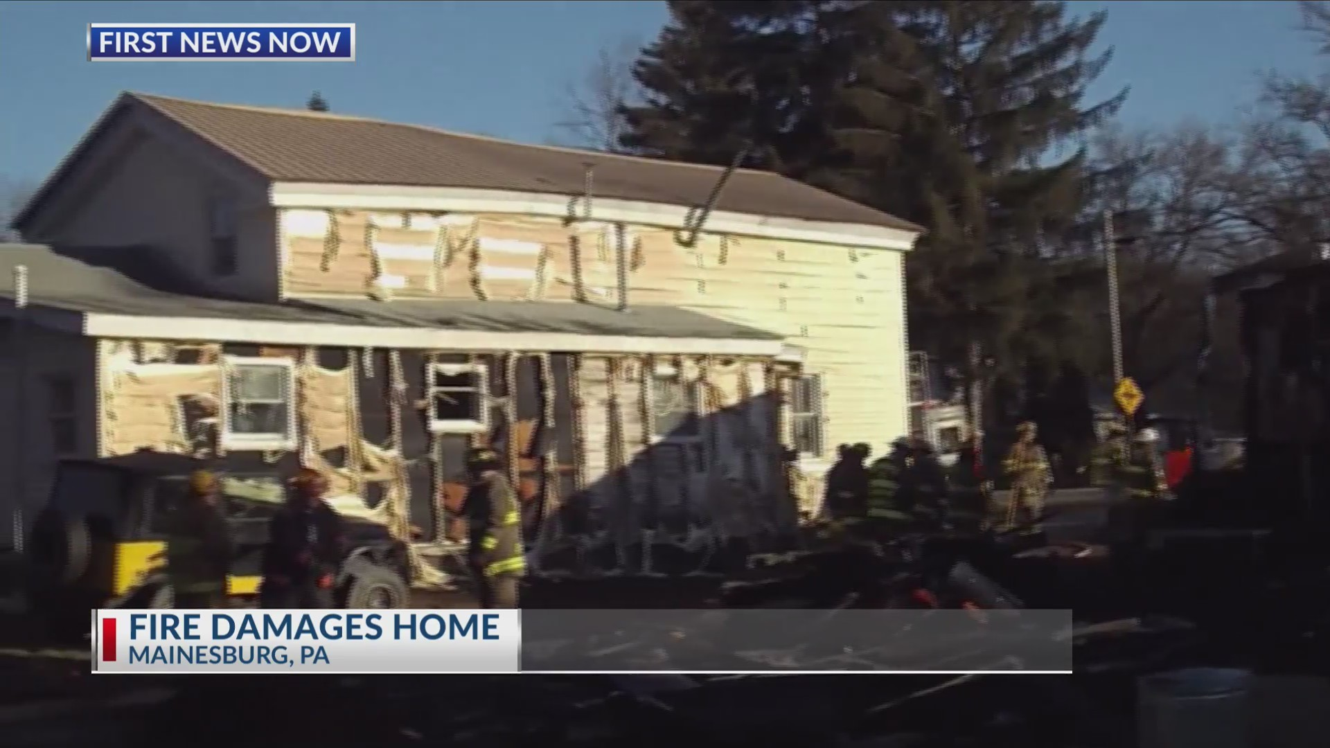 Fire damages Mainesburg home