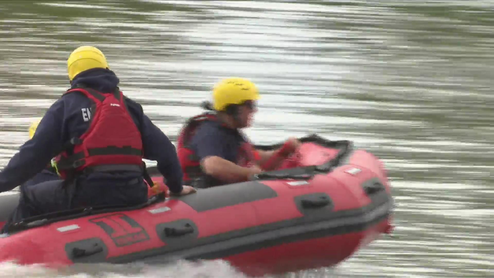 River rescue boat