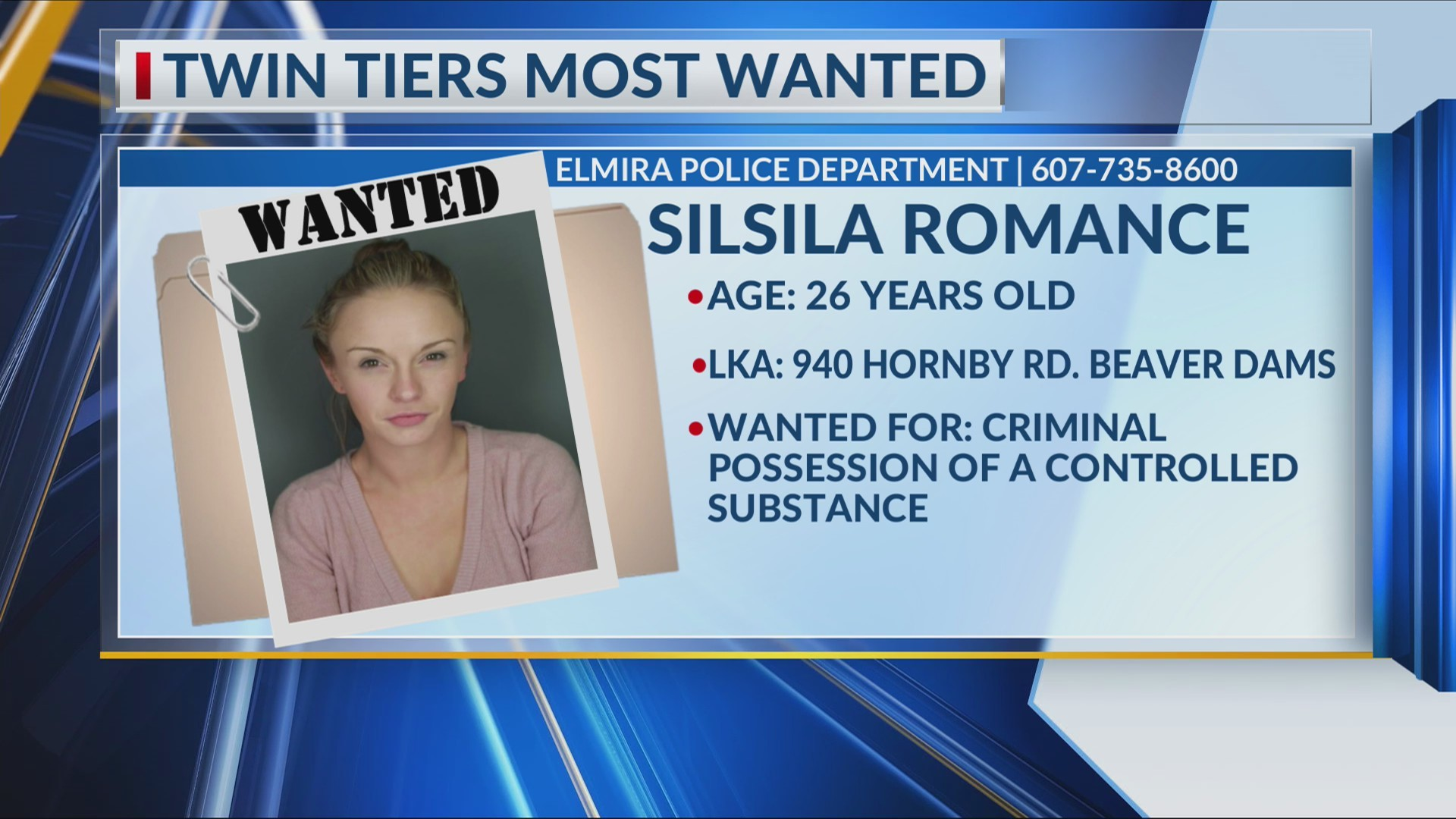 Twin Tiers Most Wanted 5/16/19
