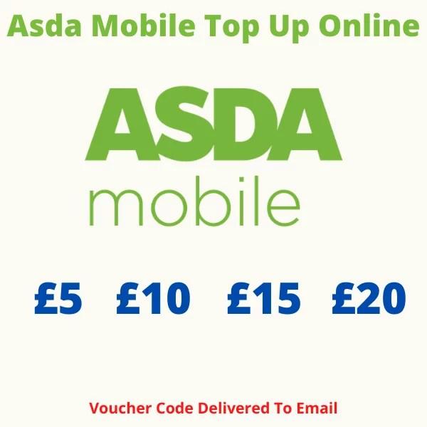 Asda Mobile Top Up Online
