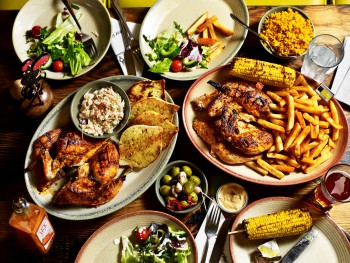 The Sharing Platter from Nando's who open their 3rd outlet in Belfast with a further restaurant in Derry.