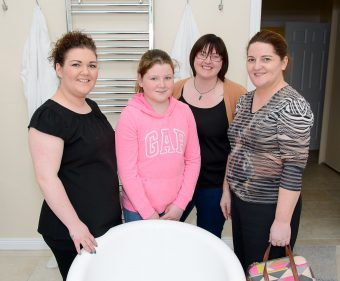 Zoe Boyd and Stephanie Preshur pictured with Rosemary Perry (right) and her daughter Cara