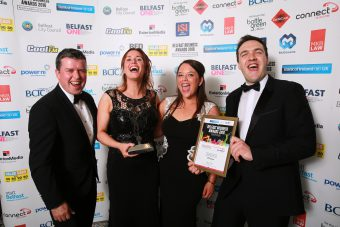 Customer Service Excellence, Professional Business Services winner was MCS Group pictured is Barry Smyth, Mairaid Scott, Kirsty Dillon and Chris Busby