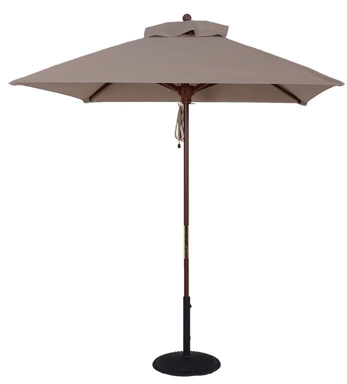 7 ft wood market square umbrella