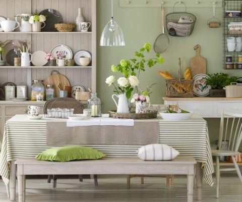 Botanical floral dining room