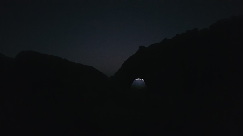 camping, Sinai trail, Egypt, tent, light, night, darkness, emptiness