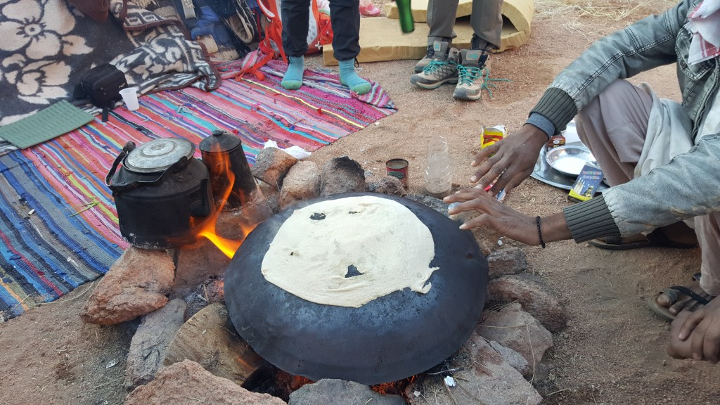 bread, hiking, camping, bedouins, egypt, sinai trail, cooking