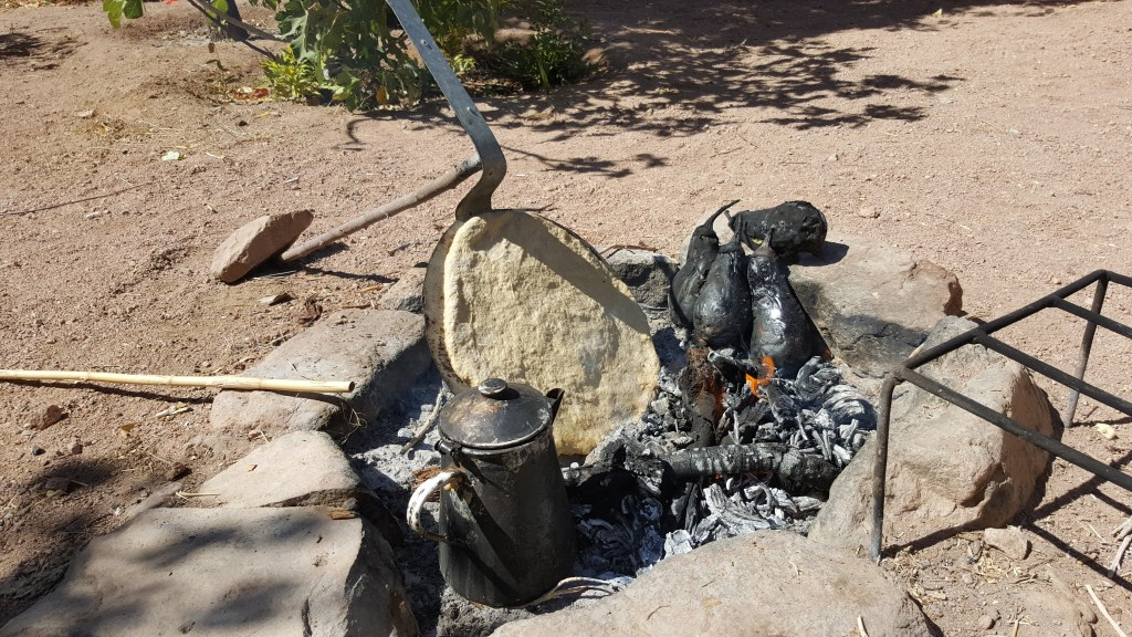 hearth, camping, eggplant, baba ganoush, bedouins, egypt, sinai trail, cooking, hiking