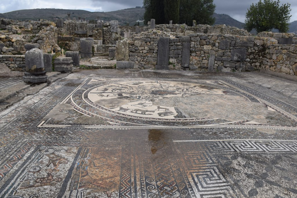 Volubilis, mosaic, villa, excavations, Roman cities, Morocco, ancient civilizations