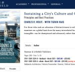 Sustaining a City's Culture and Character now available for pre-order