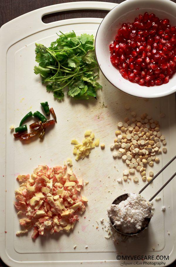 Indian chutney recipe, pomegranate chutney