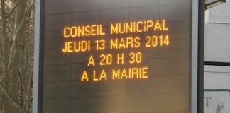 IMPORTANT : prochain Conseil Municipal jeudi prochain 13 février