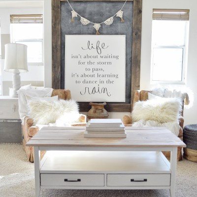 "How To Turn A ""Plain Jane Coffee Table"" Farmhouse Style"
