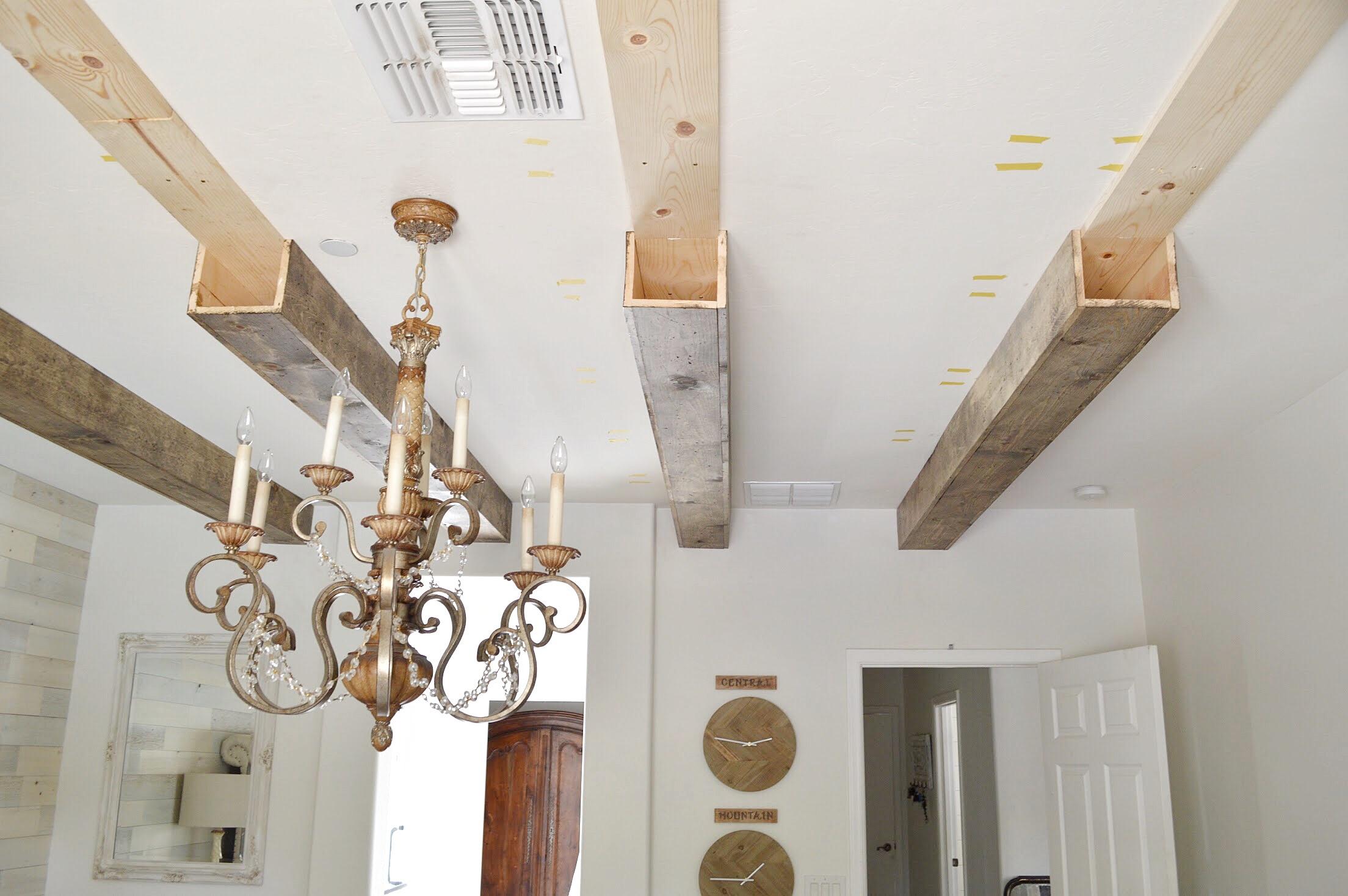 colocación parcial viga de madera