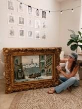 DIY Gold Antiqued Frame
