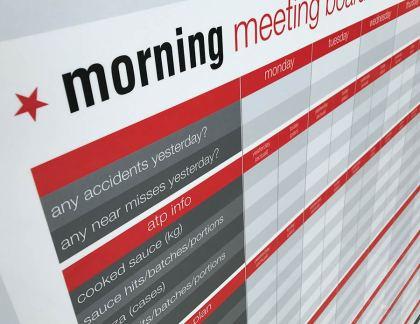Morning Meeting or 'Scrum' Dry Wipe Board