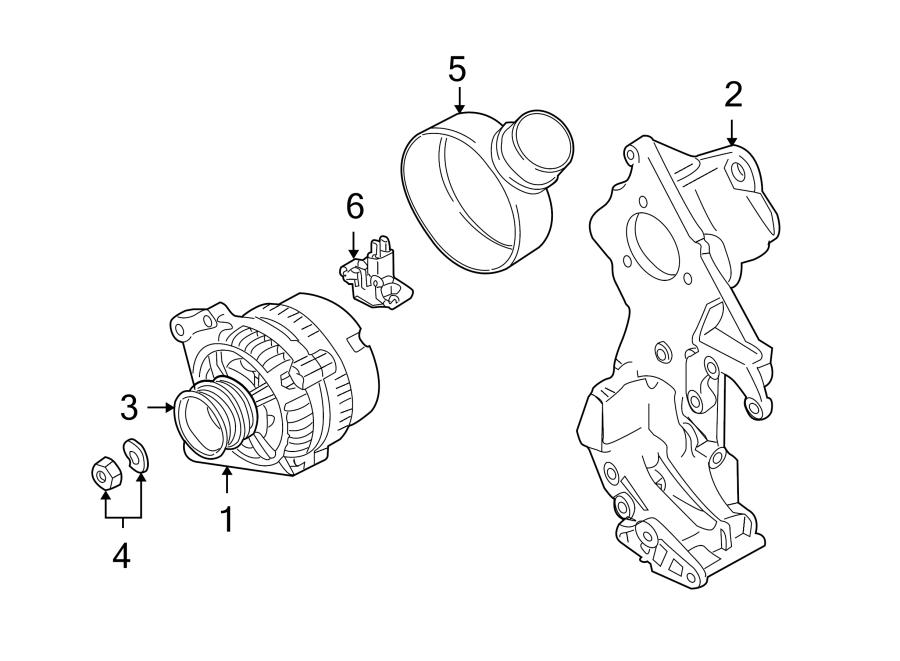 Volkswagen Beetle Alternator Pulley Nut. Pulley hardware