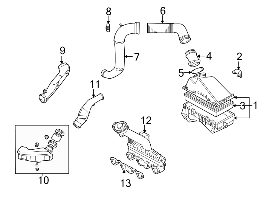 Volkswagen Jetta Mass Air Flow Sensor. Engine, Transaxle